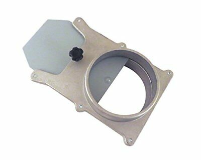 """4"""" OD Self Cleaning No Clog Aluminum Blast Gate Cut Off Valve for Dust"""