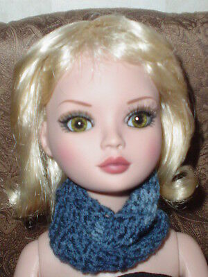 Handcrafted Infinity Scarf  Tonner Ellowyne Amber Lizette  Tyler  Blue Blend
