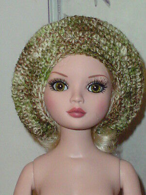 Handcrafted Slouch Doll Hat Tonner Ellowyne Amber Lizette Green Tweed