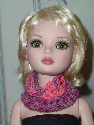 Handcrafted Infinity Scarf  Tonner Ellowyne Amber Lizette  Tyler  Rose Blend