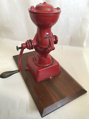 L. F. & C. Coffee Mill Grinder No. 11 New Britain, Conn Great Red Color USA Made