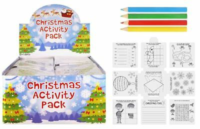 6x Christmas Eve Box Filler Activity Pack Colouring Book Set Party Bag Filler