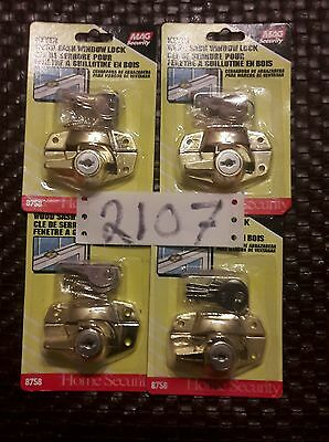 lot of 4 wood sash window locks