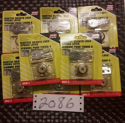 mag security mortise drawer lock - spring latch lot of 8