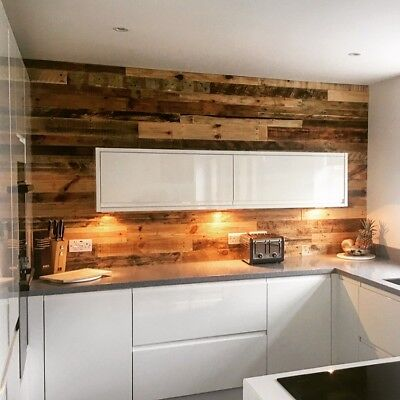 pallet wood wall cladding rustic reclaimed 10cm WIDE BOARDS