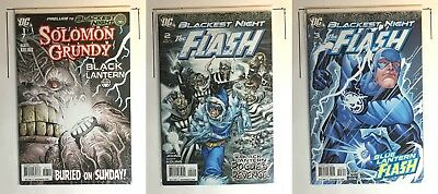 Blackest Night: Flash Solomon Grundy 3 Comic Lot (7 2 3)