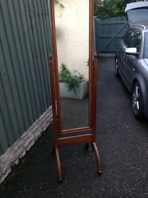 antique free standing long mirror