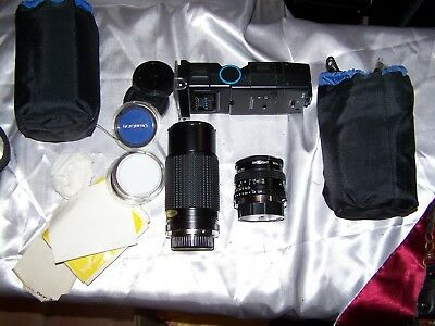 Olympus OM-10 Camera Kit with 3 lenses and stuff for parts