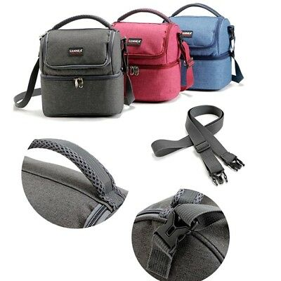 7L Women's Dual Compartment Insulated Lunch Box Bag Reusable Cooler Men's Bag