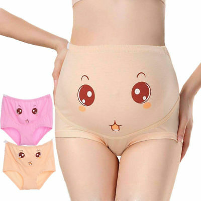 Cotton Adjustable Maternity Pregnant 3D Panties Knickers Underwear High Waist