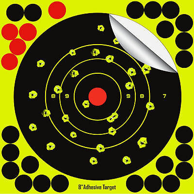 "25 Pack SHOOTING TARGETS Glow Shot Reactive Splatter Gun & Rifle 8"" Paper Target"