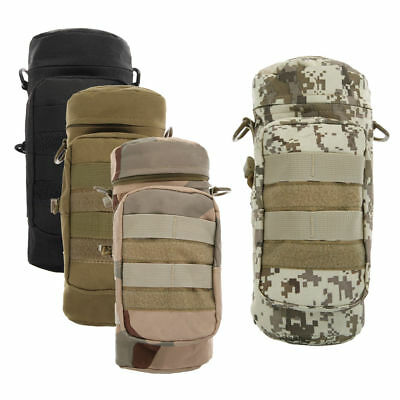 Militray Tactical Zipper Water Bottle Hydration Pouch Bag Outdoor Hiking Lot