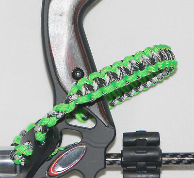 Neon Green and Urban Camo Bling Sling, Archery bow wrist sling