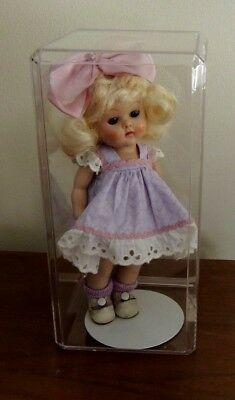 """Clear Rectangular Plastic Display Case for Ginny & Other 8"""" Dolls & Collectibles"""