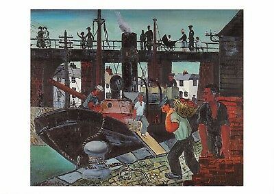 Postcard Art LOADING THE BOATS , St Ives (1926) by Christopher Wood MU2241 #92