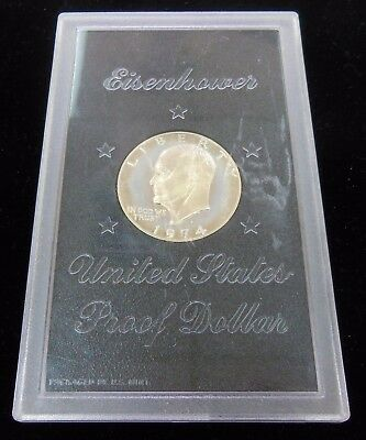 "1974-s Proof Silver Clad Brown Ike Eisenhower Dollar "" No Box """