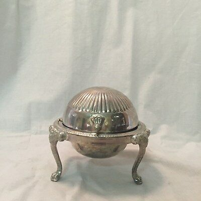 Silerplated dome butter dish