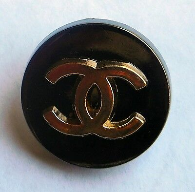 Gunmetal/Gold Colored CC Logo (Chanel) Buttons