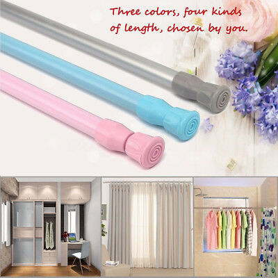 NEW Spring Loaded Extendable Telescopic Tension Curtain Rail Pole Rods Home Tool