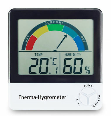 HOME OFFICE DIGITAL HYGROMETER THERMOMETER Humidity Meter Cigar Humidor Box