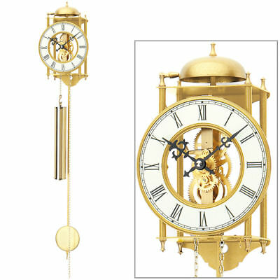 AMS Analog Wall Clock Pendulum Case Brass 8 Days CLOCKWORK DRIVE NEW