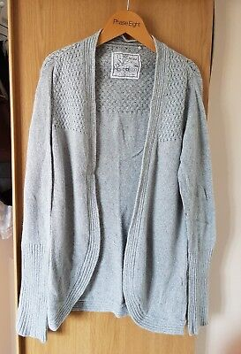Lovely Womens Grey Fat Face Cardigan Size 8 Good Condition