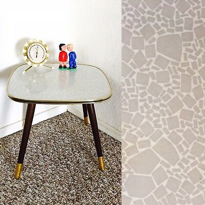 Mid Century Plant Stand Display Side End Table Vintage Formica Gray Atomic
