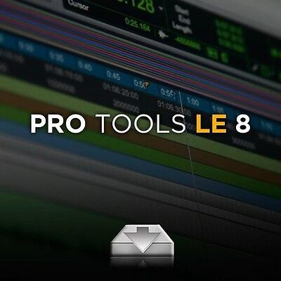 Pro Tools 8 to 8.0.5LE DOWNLOAD AND ACTIVATION CODE (SEE LAST PHOTO FOR OPTIONS)