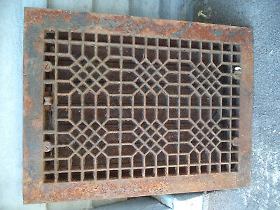 Cast Iron Floor Grate Vent Old Vintage Antique Ornate Metal Awesome Piece