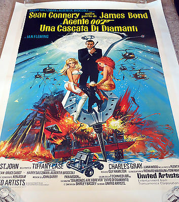 James Bond - Diamonds Are Forever - Italian - 1 panel poster