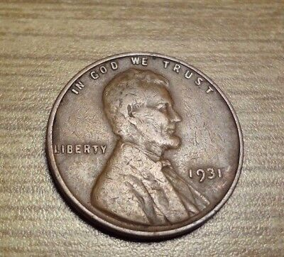 1931 Lincoln Wheat Cent Penny ; Strong Date ;  Very Clean - Free S/h