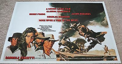 Original - ONCE UPON A TIME IN THE WEST - U.K. Quad linen backed poster - 1968