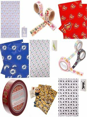Wrapping Gift Paper Roll Wrap Football Club Presents Happy Birthday