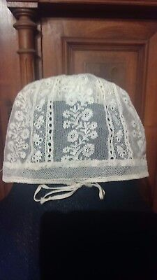 Exquisite  Antique Lace Babies Cap