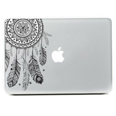 Retro Feather Pattern Vinyl Decal Black Sticker For Macbook Air Pro Laptop