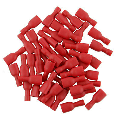 20Pcs(10Pairs) Red Insulated Spade Electrical Crimp Wire Connectors 6.3 Terminal