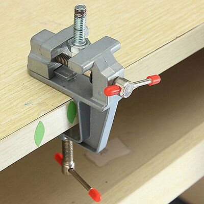 "3.5"" Aluminum Small Jewelers Hobby Clamp On Table Bench Vise Mini Miniature Tool"