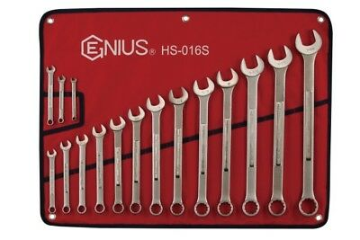 Genius Tools 16pc SAE Combination Wrench Set HS-016S