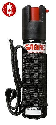 SABRE Dog Spray - Maximum Strength - Adjustable Hand Strap-Black New Formula
