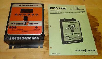 Independent Energy Inc. C-100 system manager with instructions