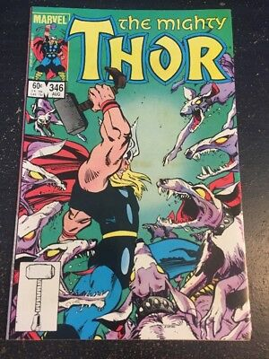 Mighty Thor#346 Incredible Condition 8.5(1984) Simonson Art, Wow!!