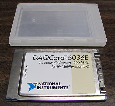 National Instruments DAQCard-6036E Data Acquisition, 16 bit ADC, PCMCIA