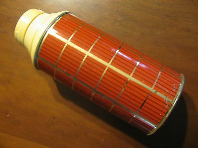 Vintage Thermos Plaid MADE IN ENGLAND