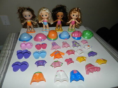 Huge Lot Fisher Price Snap N Style Dolls and Clothes Lot Shoes