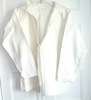 Authentic Vintage Sailor Navy Uniform Marke Smith. J. E. Top White + Tie Sz M