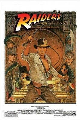 "RAIDERS OF THE LOST ARK - INDIANA JONES - 91 x 61 cm 36"" x 24""  MOVIE POSTER x"