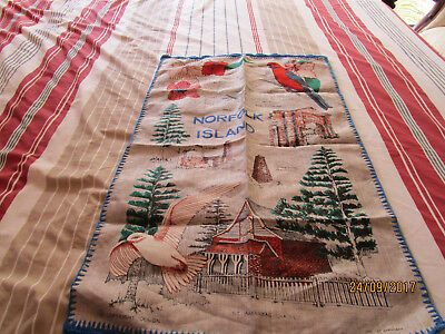 Tea Towel - Norfolk Island - Edged Four Sides
