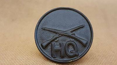 WWI Headquarters Infantry Collar Disk