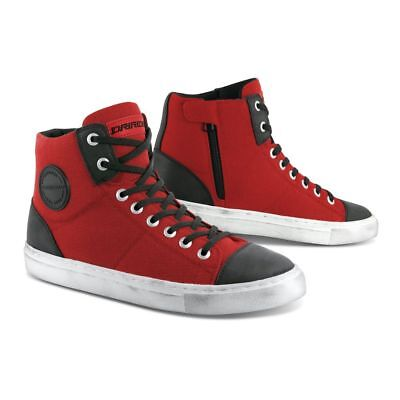 DRIRIDER URBAN Road Bike Motorcycle Casual Shoes Boots RED ALL SIZES