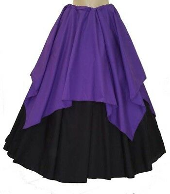 RENAISSANCE MEDEIVAL PIRATE WENCH FAIRY PRINCESS GYPSY SKIRT SET SALE 7 Colors